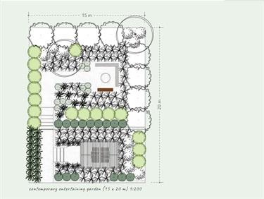 Entertaining area design for bandicoot garden