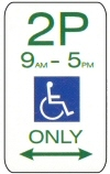 Disabled permit sign