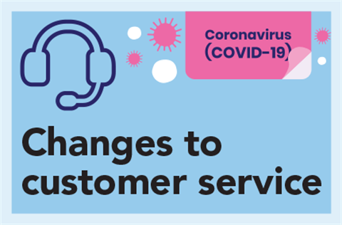 Changes to customer service during the Coronavirus crisis with headset iconicon