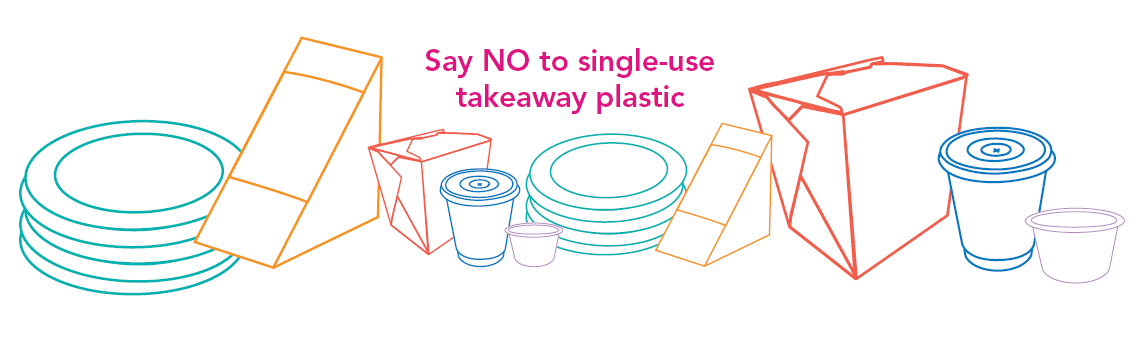Single-use plastics slider